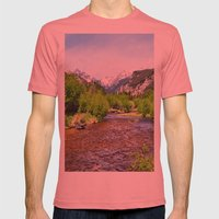 Estes Park Mens Fitted Tee Pomegranate SMALL