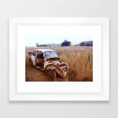 Rusty, broken and forgotten Framed Art Print