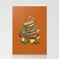 Stationery Cards featuring Uber BurgerBot by Nick Volkert