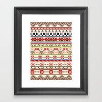 Traditional pattern Framed Art Print