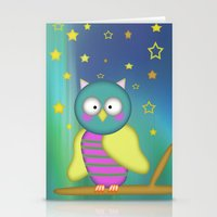 Good Night Little Owl Stationery Cards
