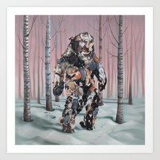 Catsquatch II Art Print