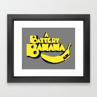 A Battery Banana Framed Art Print