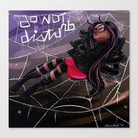 Bug Girls: Napping Spide… Canvas Print