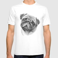 The Pug G123 SMALL Mens Fitted Tee White