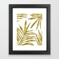 Gold Palm Framed Art Print