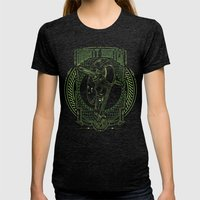 Bounty Hunter Womens Fitted Tee Tri-Black SMALL