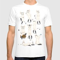 Thorodrin Cat Mens Fitted Tee White SMALL