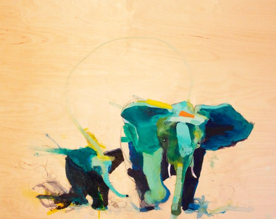 """Elephants"" Canvas Print"