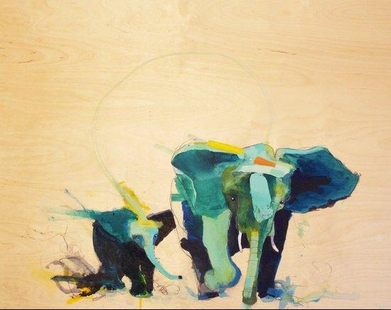"""""""Elephants"""" Art Print"""