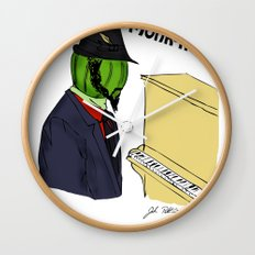 thelonious monk-fruit Wall Clock