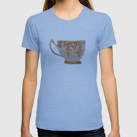 Teacup Womens Fitted Tee Athletic Blue SMALL