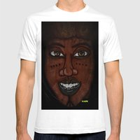 Afrikan Beauty Mens Fitted Tee White SMALL