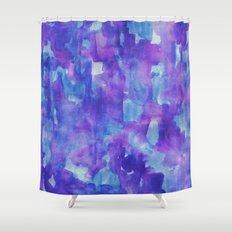 Blue & Purple Shower Curtain