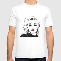 Marilyn M Mens Fitted Tee White SMALL