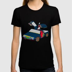 Cool Boys Like Flying Cars Womens Fitted Tee Black SMALL