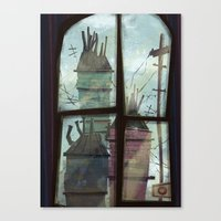 window to somewhere Canvas Print