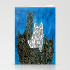 One of these wolves aten't like the other Stationery Cards