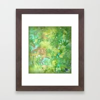 Greenwoods Abstract Framed Art Print