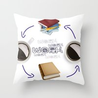 Coffee And Books - Recipe For Success Guaranteed  Throw Pillow