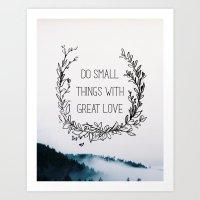 Small Things Art Print