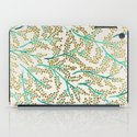 Green & Gold Branches iPad Case