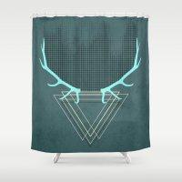 minimalistic deer Shower Curtain