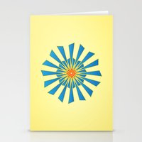 Spring Blue Stationery Cards