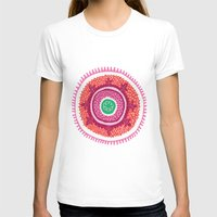 Suzani I Womens Fitted Tee White SMALL