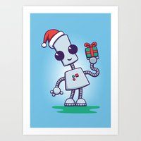 Ned's Christmas Art Print