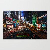 Psychedellic City Canvas Print