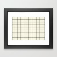 Simple Grid Framed Art Print