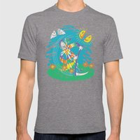 The Not-So-Grim Reaper Mens Fitted Tee Tri-Grey SMALL