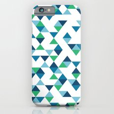 Triangles Blue and Green Slim Case iPhone 6s
