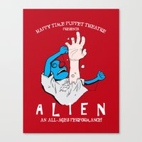 Happy Time Puppet Theatre presents: ALIEN Canvas Print