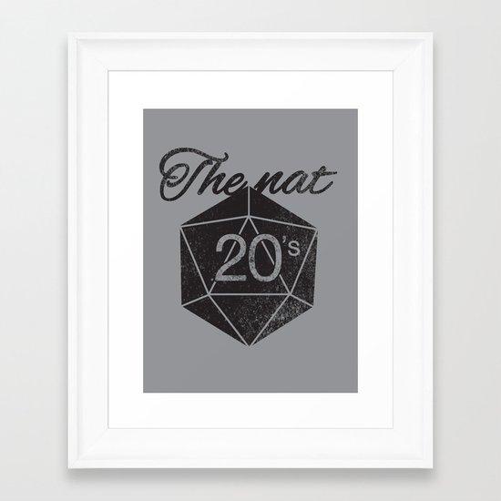 The Nat 20's Framed Art Print