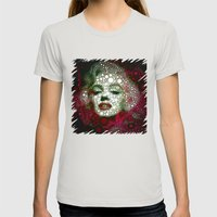 Marilin circles Womens Fitted Tee Silver SMALL