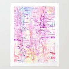 water colour simplicity Art Print
