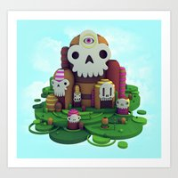 Skull Mountain Art Print