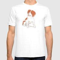 Springer Spaniel Dog Mens Fitted Tee White SMALL