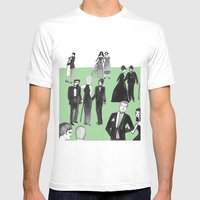 Black Tie Mens Fitted Tee White SMALL