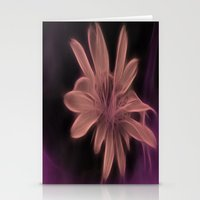 Psychedelic Flower Stationery Cards