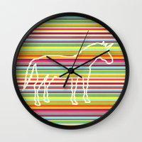 Rainbow Unicorn Line Wall Clock
