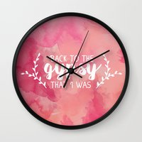 Back to the gypsy that I was Wall Clock