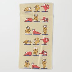 Sloth Yoga Beach Towel
