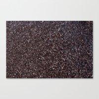 Black Sand IV (Red) Canvas Print