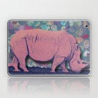 Pink Rhinoceros Collage Laptop & iPad Skin