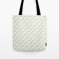 Pattern: Olive + Peach Arrows Tote Bag
