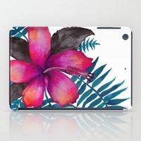 Pink Hibiscus Flower - WHITE iPad Case