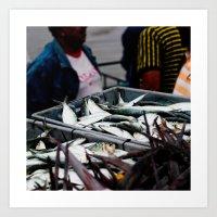MUCHA CHANCLETA :  Fishe… Art Print